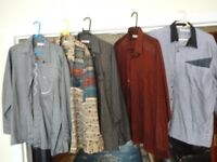 lovely men's quality 5 shirts,large size 42 cms,very very nice shirts,cost me lot of money,all £35..