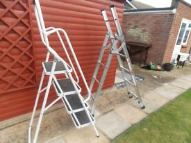 4 step safety ladder and 6 step extends to 10 steps ladder