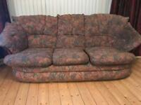 *FREE TO COLLECT* 1 x 3 Seater Sofa & 2 x Arm Chairs