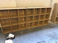 Vinyl record or books shelving - 2 large racking units. MDF - solid.