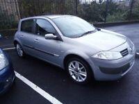 05 Plate Renault Megane Elegance. Full Leather, MOT Feb 18. Great condition. 1.6 petrol. £350 ono.