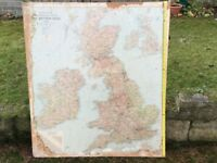 British Isles Map on chipboard panel