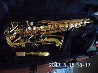 HANSON SA-8, 24k GOLD LACQUERED, ALTO SAX