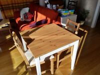 Ikea Table & 2 chairs - Must go before 30th May