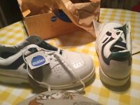 White steel toe cap safety trainers.Size 10