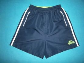 Navy Lonsdale Shorts Age 9-10 Years IP1