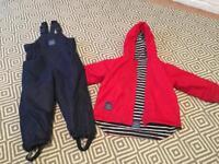 Jo Jo Maman Bebe waterproof coat and trousers