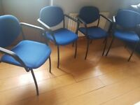 4 executive office chairs with armrests