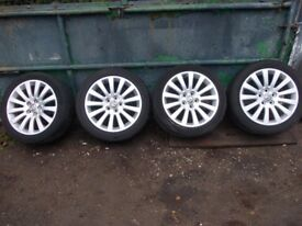 Vauxhall insignia set of 4 alloy wheels R18 & Tires 2009