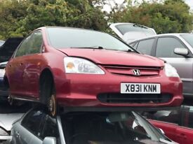 2001 HONDA CIVIC SE EXECUTIVE (MANUAL PETROL)