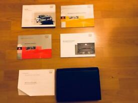 Genuine Audi A4 B6/B7 Leather Wallet and Manuals