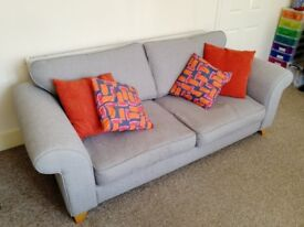 Grey 3-seater DFS sofa, good condition, offers considered