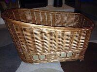 Dog bicycle basket & rear cycle rack