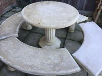 Stone table and 4 benches