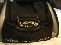 BRAND NEW CALLAWAY GOLF HOLDALL / LOADS OF ZIP UP POCKETS / COST £75 / VGC / IDEAL PRESENT