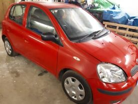 2004 Toyota yaris in red ideal first car, learner car or cheap run around