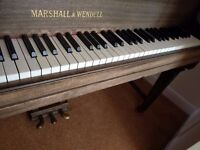 Marshall & Wendell Grand Piano Full Sizes 88 Keys / Tuned Regularly Notes Great Condition Bolton
