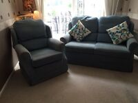 2 Seater Settee + Arm chair . Traditional Winged Suite
