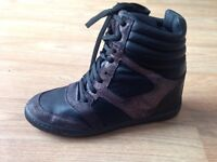 trainers/sneakers italian leather made from river island size 40 (uk)
