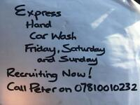 Car cleaners wanted