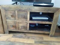 Solid Mango TV Stand with Drawers