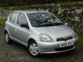 TOYOTA YARIS 1.3 CDX. *VERY LOW MILEAGE*, ONE OWNER, FULL SERVICE HISTORY. LOVELY CONDITION. MOT.