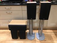 B&W DM600 s3 series surround sound speakers and stands DM 600, 601 and LCR 60