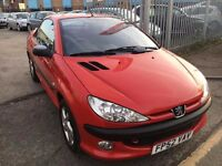 PEUGEOT 206CC CONVERTIBLE 1.6S PETROL AUTOMATIC LOW MILEAGE 54000 MILES WARRANTED