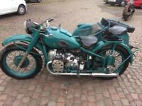 M72 1955 with Sidecar Vintage Russian Dnepr Ural Cossack Neval Motorbike