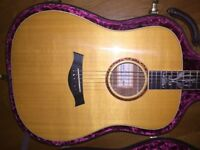 2000 Taylor 25th Anniversary Dreadnought Acoustic Guitar Mint Condition