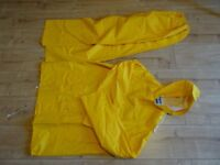 new - waterproof jacket and trousers size 48 chest - trousers 24 inch - 42 inch elasticated waist