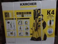 ONLY 170 KARCHER K4 PREMIUM FULL CONTROL + HOME KIT PRESSURE WASHER - BRAND NEW IN BOX