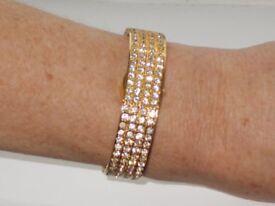 Eric Chevillard As New Pretty Ladies Diamante Cocktail Bracelet Watch