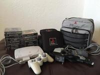 Sony PlayStation PS1 With 55 Games Etc.
