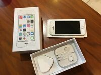 iPhone 5s, silver 16Gb, unlocked, restored to factory settings, with box, used