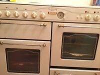 Victoriana de luxe range cooker in white