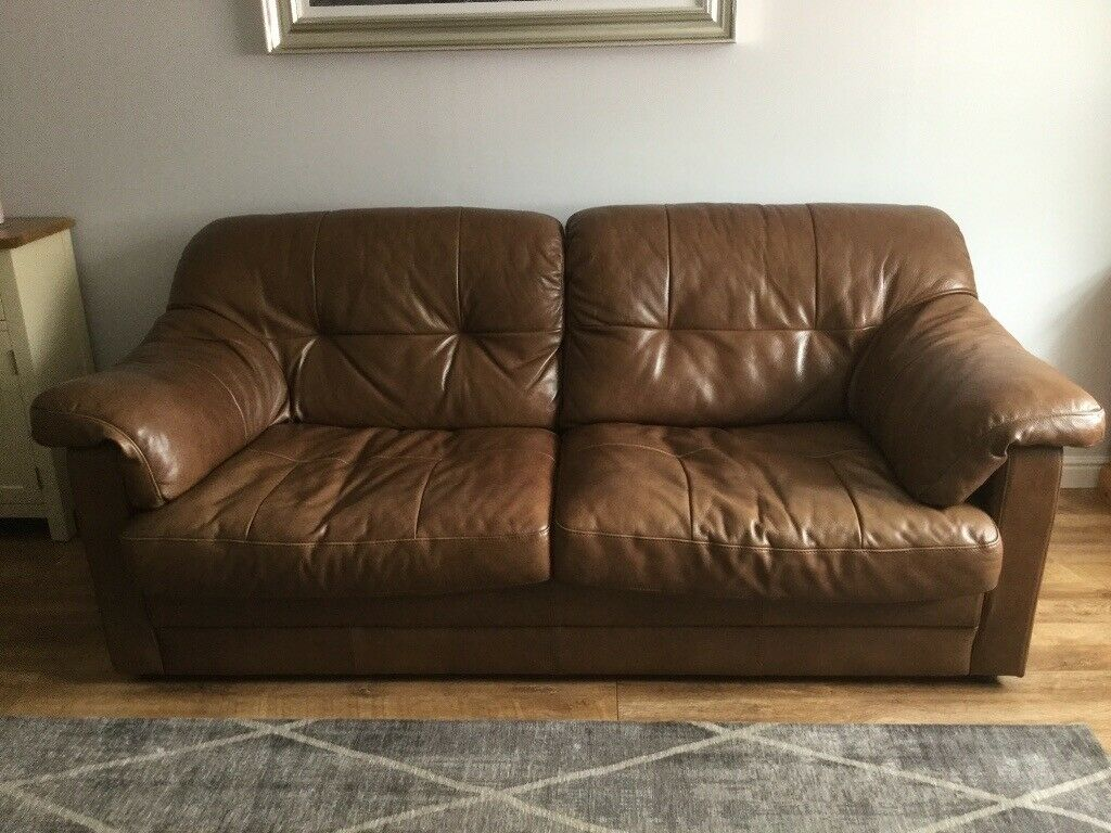 Excellent Leekes Brown Leather Sofa In Cwmbran Torfaen Gumtree Download Free Architecture Designs Salvmadebymaigaardcom