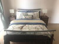 Modern Double Bed frame and mattress like new