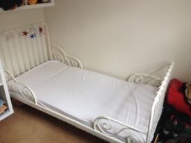 White child's ikea bed