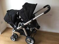 I Candy double pushchair buggy stroller from 0 until 3 years old