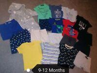 9-12 Months Baby Boy Clothes Bundle