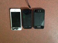3 mobiles Samsung, Nokia , iPhone 5