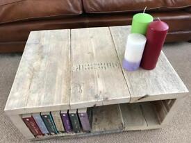 Scaffolding Board Coffee Table/Storage