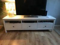 White Ikea Hemnes TV Cabinet
