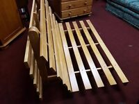 Wooden Framed Double Futon with mattress