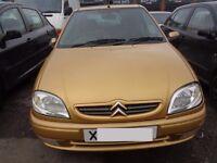 BREAKING - Citroen Saxo Desire 1.1L Petrol 60BHP -------2000