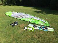 North Rebel 10m 2010 kite, kiteboard, pump, Dakine harness and lines in Kent