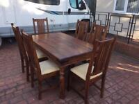 Genuine John Lewis Maharani 6 seater dining table and chairs