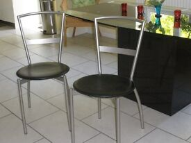 2 Stylsih Contemporary Bistro/dining chairs