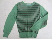 Boy's Green Striped La Redoute jumper, 9-10yrs
